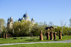 Christian orthodox monastery. Men's monastery in Russia, Verkhoturie Royalty Free Stock Photography