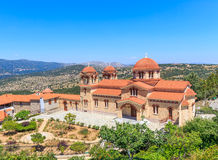 Christian orthodox monastery in Malevi, Peloponnese, Greece Royalty Free Stock Photo