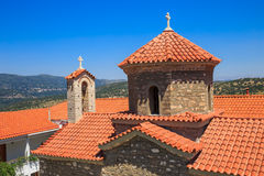 Christian orthodox monastery in Malevi, Peloponnese, Greece Royalty Free Stock Image