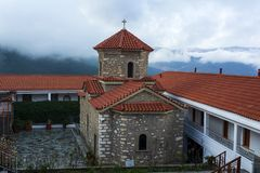 Christian orthodox monastery of the Virgin Mary in Malevi, Peloponnese, Greece. It is one of the most important monasteries in the Kynouria province royalty free stock photography