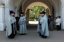 Christian Orthodoxen priests Stock Images