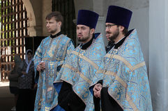 Christian Orthodoxen priests Stock Photo