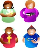 Christian people royalty free illustration