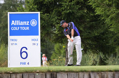 Christian Pfaller at the golf Open de Paris Stock Image