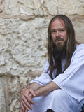Christian pilgrim Stock Photo