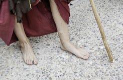 Christian pilgrim feet Royalty Free Stock Photo