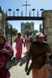 Christian Pilgrims från Indien på Har Tabor Royaltyfria Bilder