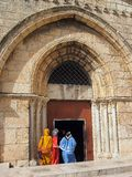Christian Pilgrims, Jerusalem Royalty Free Stock Images