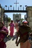 Christian Pilgrims von Indien auf Har Tabor lizenzfreie stockbilder
