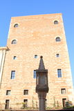 Christian pillar in front of house in Verona Royalty Free Stock Photography