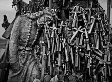 Christian place of worship. Hill of Crosses. Lithuania Stock Photos