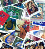 Christian postage stamps Royalty Free Stock Image