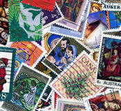 Christian postage stamps Royalty Free Stock Images