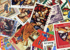 Christian postage stamps Stock Photos