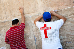 Christian Praying at Western Wall Stock Images