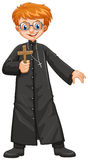Christian priest holding cross Royalty Free Stock Photography