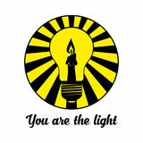 Christian print. You are the light. royalty free illustration