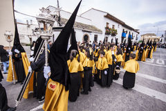 Christian procession of the Holy Week. Royalty Free Stock Photography