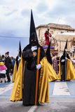 Christian procession of the Holy Week. Royalty Free Stock Images