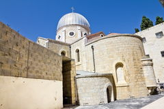 Christian quarter in the old city of Jerusalem. Armenian Church Stock Images