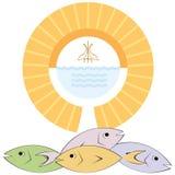 Christian Religion. Symbols of the Christian religion / Communion / Baptism Stock Images
