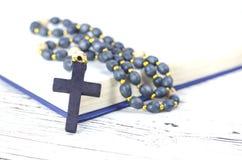 Christian religion attributes on a white background stock image