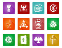 Christian Religion Icons Royalty Free Stock Image