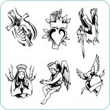 Christian Religion - vector illustration. Royalty Free Stock Photos