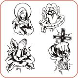 Christian Religion - vektorillustration. Royaltyfri Fotografi