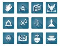 Christian Religious Icons. A set of Christian religious icons and symbols Royalty Free Stock Photos