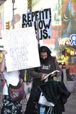 Christian Religious Protestors NYC Time Square Royalty-vrije Stock Afbeeldingen