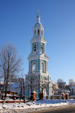 Christian Russian Bell tower in monastery Royalty Free Stock Images
