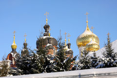 Christian Russian monastery stock photography