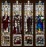 Christian Saints Stained Glass Window Royalty Free Stock Image