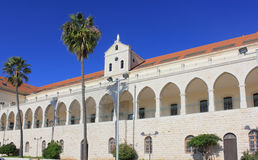 Christian school and Salesian church in Nazareth, Israel Royalty Free Stock Image