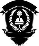 Christian School Shield Emblem illustrazione di stock