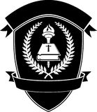 Christian School Shield Emblem Fotografía de archivo