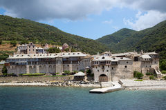 Christian shrine by the sea on Mount Athos Royalty Free Stock Photography