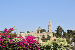 Christian shrines in Jerusalem. Christian holy places in Jerusalem on Mount Zion Royalty Free Stock Images