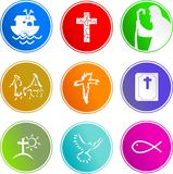 Christian sign icons Royalty Free Stock Photo