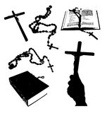 Christian signs silhouettes. Royalty Free Stock Photos