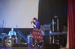 Christian singer Christine D' Clario performing Stock Photos