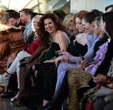 Christian Siriano FW19 Runway Show as part of NYFW royalty free stock image