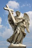 Christian Statue castle sant angelo Stock Photos