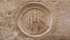 Christian stone symbol Stock Images