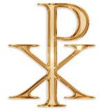 Christian symbol. Chi rho christian symbol isolated on white background Royalty Free Stock Images