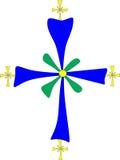 Christian symbol: Coptic cross royalty free stock photos