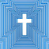 Abstract christian cross Royalty Free Stock Photo