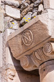 Christian Symbol at Selcuk in Turkey Stock Image
