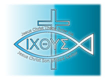Christian symbolism. Symbols of Christianity and the way to eternal life with God Stock Photography